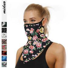 Unisex Neck Tube Scarf Bandana Head Face Cover Neck Gaiter Ear Loops Headwear