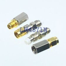 10pcs FME Male Plug to SMA Female Jack Straight RF Coaxial Adapter Connector