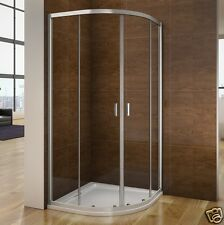 900x900 Quadrant Shower Enclosure & PU Tray & Waste Walk in Corner Cubicle Door