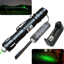 Military 5mw Green Laser Pointer Pen Light 532nm Visible Beam + Charger&Battery
