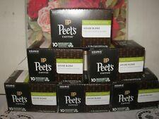 Peet's Coffee Decaf House Blend Dark Roast Keurig K-Cups 60 Count-6 Boxes of 10