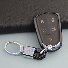 TPU Black Car Key Chain Holder For Cadillac ATS CTS CT6 XTS XT5 Accessories