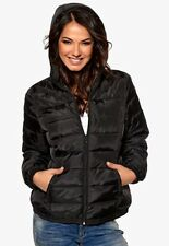 Happy Holly Quilted Hooded Jacket Black Euro Size 40/42 Box43 44 N
