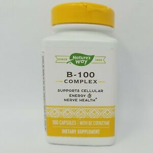 Nature's Way B-100 Complex Cellular Energy & Nerve Health 100 Capsules