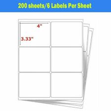 1200 Label 6 Up 4x3 13 Address Shipping Self Adhesive Mail Labels 200 Sheets