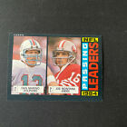 1985 TOPPS #192 DAN MARINO / JOE MONTANA 1984 NFL PASSING LEADERS EXNM +/-