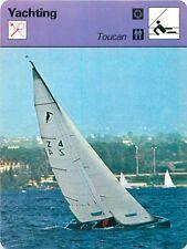 FICHE CARD Toucan Seigneur du Lac Léman Louis Noverraz Voilier Yacht 70s