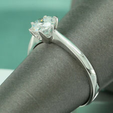 1.5 CT ROUND CUT DIAMOND SOLITAIRE ENGAGEMENT RING 14K WHITE GOLD Finish 5