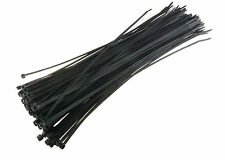 "100 Piece - 12"" Inch - Cable Zip Wire Ties - Black Zipties Plastic Tie"