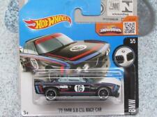 Hot Wheels 2016 # 190/250 1973 BMW 3.0 Csl Auto da Corsa Custodia Nera N Nuovo