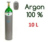 Argon Gasflasche Zylinder 100% voll 10 Liter 200 Bar Pure Gas Schweißen NEU