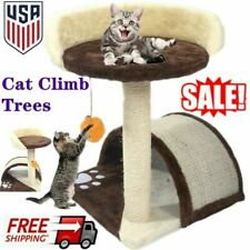 Us Cat Tree Tower Condo Furniture Bed Scratch Post Kitty Play ball House New