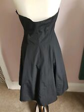 Per Una Rockabilly Blk Satin Dress Uk18