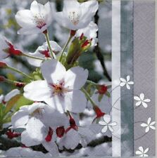 Lot de 2 Serviettes en papier Beauté Fleurie Decoupage Collage Decopatch