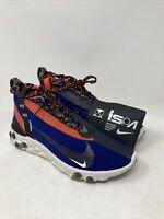 Nike React Runner Mid Men's Size 9.5 M US Blue/Red/Grey