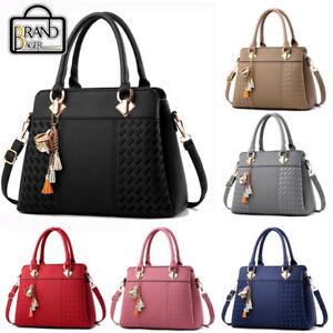 Women PU Leather Handbag Tassel Totes Bag Messenger Crossbody Purse Shoulder Bag