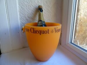 "French orange champagne - wine ice bucket  ""Veuve Clicquot  collectible"
