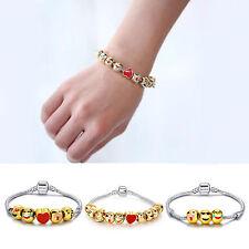 Emoji Style Charm Bracelet Beads Best Birthday Gift For Kids Baby Beauty