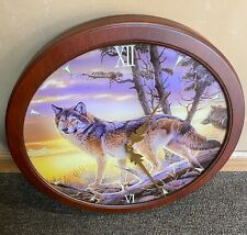 Illuminations of the Wild Wolf Clock By Al Agnew Bradford Exchange Limited Ed.
