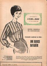 ▬► Patron Couture Supplément Écho de la Mode Robe Télévision N°4 1960