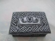 Cold Cast Pewter Gallic Design Trinket Box.