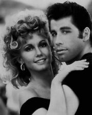 1978 GREASE John Travolta Olivia Newton-John Glossy 8x10 Photo Print Poster