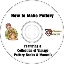 How to Make Pottery Vintage How To Book Collection on CD