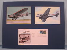 Commercial Aviation featuring the DC-3 & Tri-Motor Planes & First Day Cover