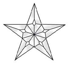 Stained Glass Supplies 1-5 piece large Texas Star ec227