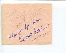 Edith Coates Elisabeth Soderstrom Opera Singer Signed Autograph