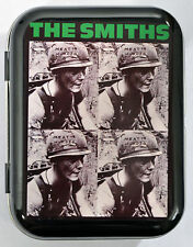 THE SMITHS MEAT IS MURDER ARMY HELMET VEGAN MORRISSEY HINGED TIN MINTS PILL