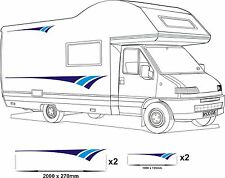 MOTORHOME VINYL GRAPHICS STICKERS DECAL CAMPER VAN RV CARAVAN HORSEBOX 2 BLUES