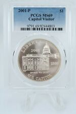 2001-P PCGS MS69 Capitol Visitor Commemorative Silver Dollar Business Strike $1