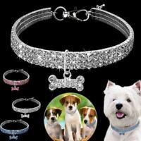 Kristall Hund Katze Halskette Kragen Strass Jeweled Halskette Diamond Pet