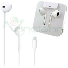 Cuffie auricolari+microfono Earpods Lightning originali Apple per iPhone 7 E9P