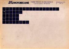 MICROFICHE MBK Motobecane Mobylette M50 EV 50EV M 50