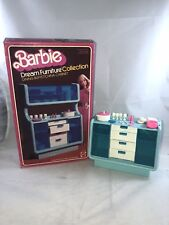 1978 Barbie Dream Furniture Collection Blue Dining Buffet China Cabinet Vintage