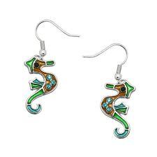Seahorse Fashionable Earrings - Fish Hook - Sparkling Crystal