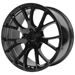 "Replica 161GB Hellcat 20x10.5 5x115 +25mm Gloss Black Wheel Rim 20"" Inch"