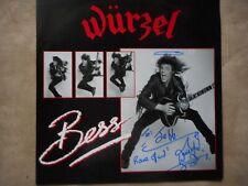 """MOTORHEAD WURZEL """"BESS"""" LP E.P. 1987 AUTOGRAPHED BY WURZEL R.I.P."""