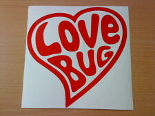Grande Love Bug Cuore Vinile Grafica Decalcomania VW BEETLE VAN AUTO ADESIVI COFANO Retrò