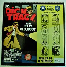 Dick Tracy Comic Strip   Instant  SV Lottery Ticket, Flattop,Pruneface, and more