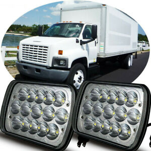 LED Headlights for C6500, C7500, C8500 & Up Headlamp Bulb Models w/Black Housing