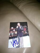 Vince McMahon Signed Smack Down Card Wwe Wwf