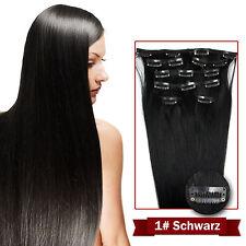 Remy Echthaar Haarverlängerung Clip in Extensions 7 Tressen 16 Clips 40cm 45cm