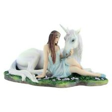 Pure Heart by Anne Stokes - Maiden & Unicorn Figurine | Nemesis Now