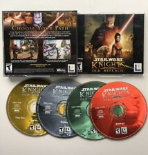 Star Wars Knights of the Old Republic PC Game 4 Disc Set 2003 Comp Video Game