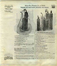1916 ADVERT 7 PG Vulcan Oxy Acetylene Welding Equipment Cutting Star Brand Tanks