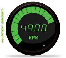 "Intellitronix Digital/Bargraph Memory Tachometer 3 3/8"" GREEN LEDs! BLACK BEZEL!"