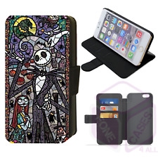 Disney STAINED GLASS NIGHTMARE BEFORE CHRISTMAS Flip Phone Case iPhone Galaxy